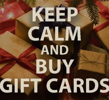 GIFT CARDS: BUY $100, GET $20! BEGINNING NOVEMBER 1